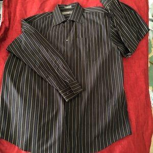 Perry Ellis Potrfolio Black Dress Shirt 17 34/35